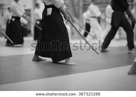 Japanese sword-fighting - stock photo