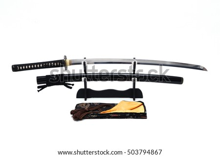 Japanese sword on stand