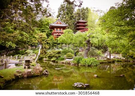 Japanese Tea Garden in San, Francisco - stock photo