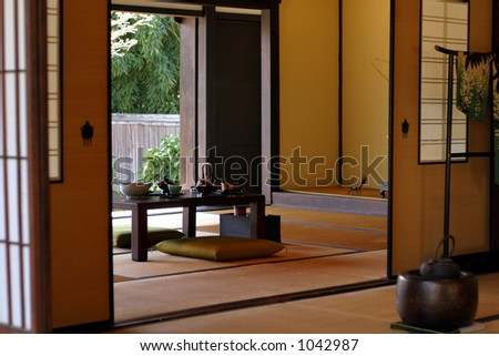 Japanese tea room - stock photo