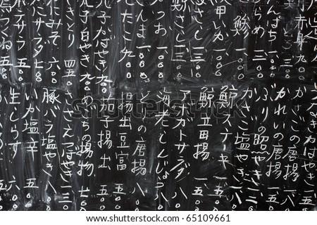 Japanese text pattern - stock photo