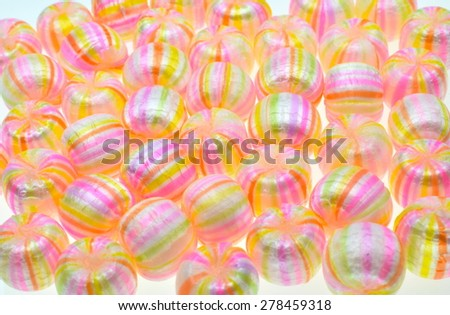 "Japanese traditional candy. the name of thus candy is "" thread ball"". - stock photo"