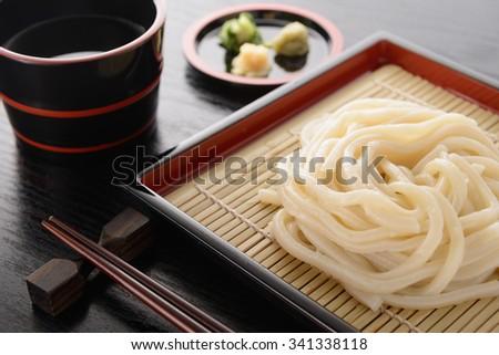 japanese udon - stock photo