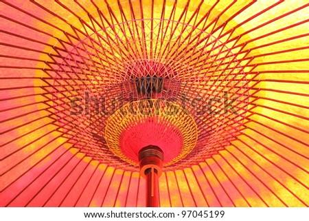 Japanese umbrella - stock photo