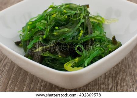 Japanese wakame salad - stock photo