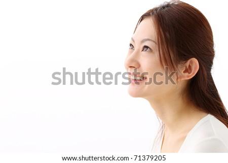 Japanese woman - stock photo
