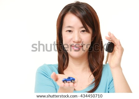 Japanese woman get a new car