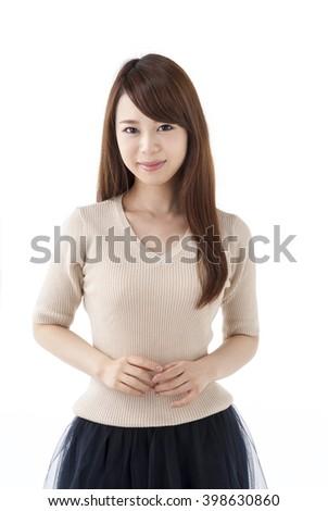 Japanese woman in her twenties - stock photo
