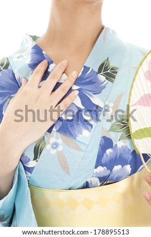 Japanese woman in yukata