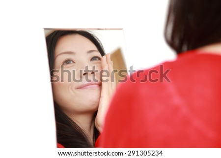 Japanese woman with good condition skin - stock photo