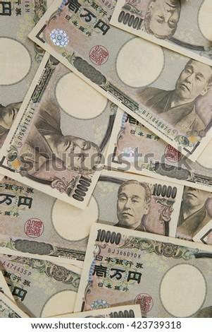 Japanese yen bills - stock photo