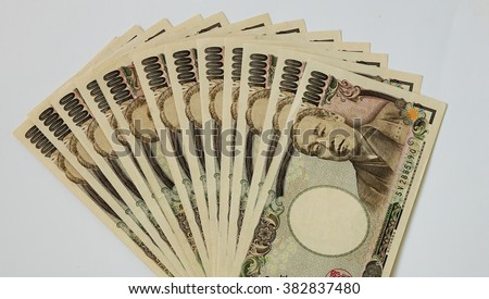 Japanese Yen - 10,000 Yen Notes. - stock photo