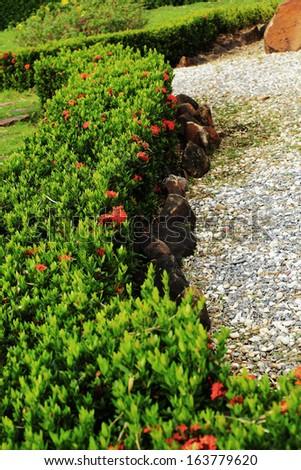 Japanese zen gardens in nature - stock photo