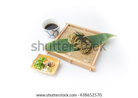 Japanse cold soba, japanese food