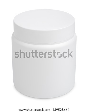 Jar for cosmetic cream or gel isolated on white with clipping path