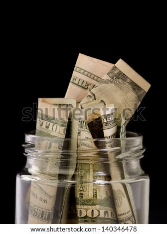 Jar Full of Money. - stock photo