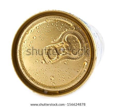 jar of beer isolated on white