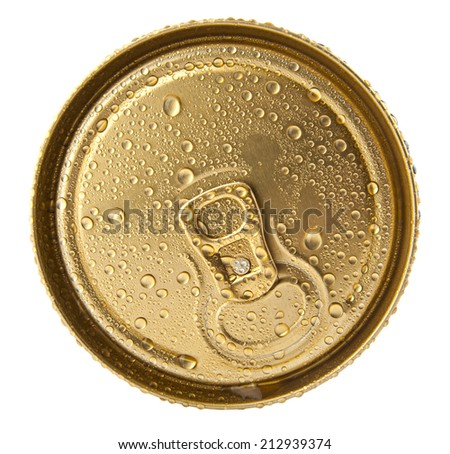 jar of beer on a white background