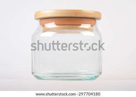 Jar on white background