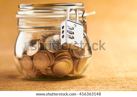 jar with coins - stock photo