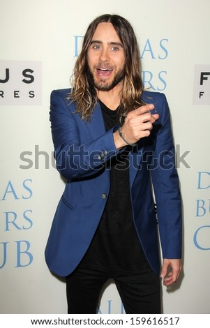 "Jared Leto at the ""Dallas Buyers Club"" Los Angeles Premiere, Academy of Motion Picture Arts and Sciences, Beverly Hills, CA 10-17-13"