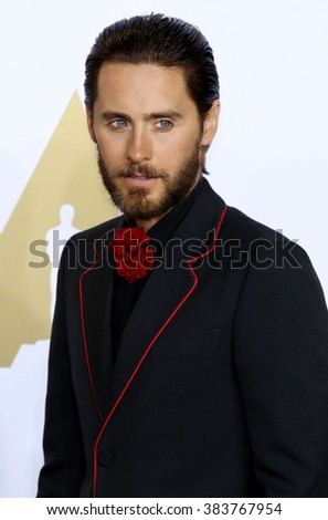 Jared Leto at the 88th Annual Academy Awards - Press Room held at the Loews Hollywood Hotel in Hollywood, USA on February 28, 2016. - stock photo