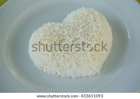 Jasmine rice in love.