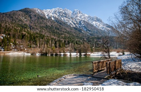 Jasna lake, Kranjska gora, Slovenia  - stock photo