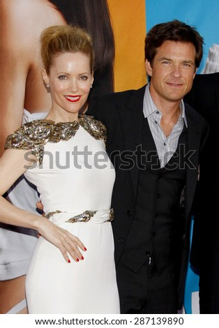 Jason Bateman and Leslie Mann at the Los Angeles premiere of 'The Change-Up' held at the Regency Village Theatre in Westwood on August 1, 2011.  - stock photo