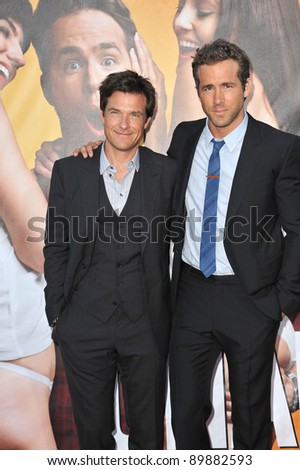 Jason Bateman & Ryan Reynolds at the world premiere of their new movie The Change-Up at the Regency Village Theatre, Westwood. August 1, 2011  Los Angeles, CA Picture: Paul Smith / Featureflash