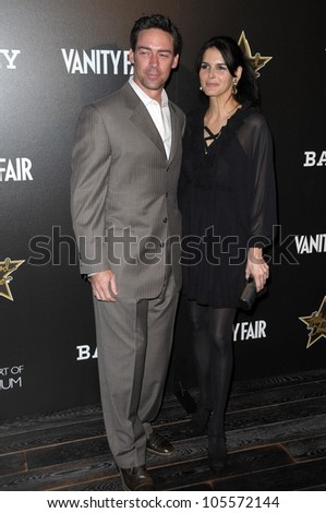 Jason Sehorn and Angie Harmon at Bally's Hollywood Domino Party Benefitting Art Of Elysium. Andaz, West Hollywood, CA. 02-20-09