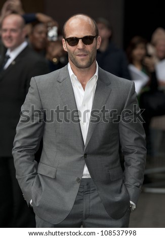 Jason Statham arriving for the UK Premiere of SAFE IMAX Cinema  Waterloo  London 30th April 2012 Pics by Simon Burchell / Featureflash - stock photo