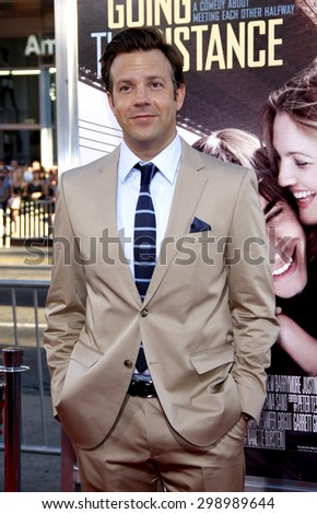 Jason Sudeikis at the Los Angeles premiere of 'Going The Distance' held at the Grauman's Chinese Theater in Hollywood on August 23, 2010.  - stock photo