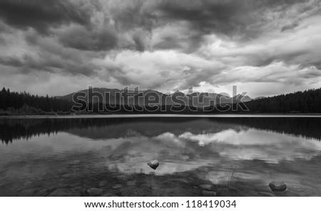 Jasper - Patricia Lake Jasper - Patricia Lake, AB, Canada - stock photo