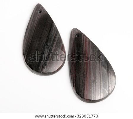 jaspilite form of Quartzite gemstone on white  - stock photo