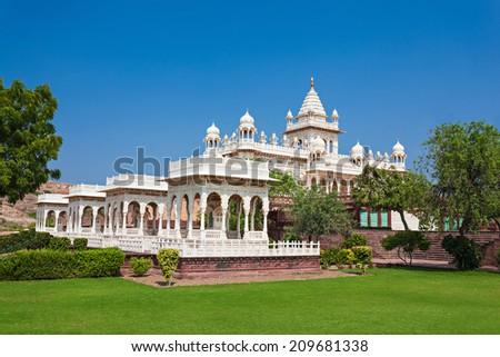 Jaswant Thada mausoleum in Jodhpur, Rajasthan, India - stock photo