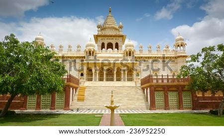 Jaswant Thada mausoleum, Mehrangarh, Jodhpur, Rajasthan, India - stock photo