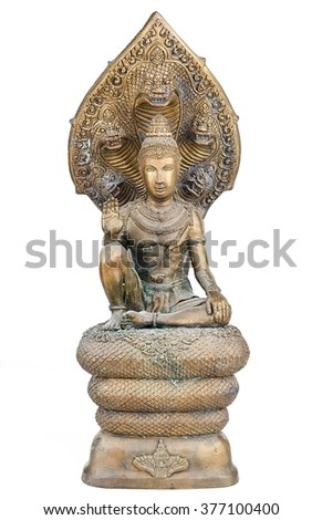 Jatukham Rammathep is the name of an unusually popular amulet sold by some Buddhist temples in Thailand.  - stock photo