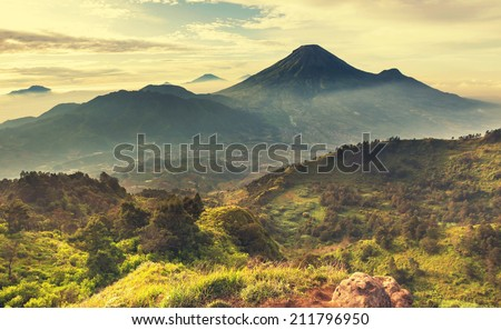 Java  landscapes - stock photo
