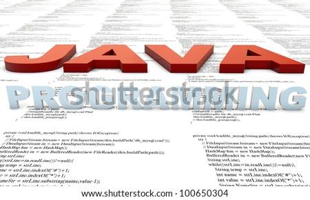 Java Programm developmenet, source Code - stock photo