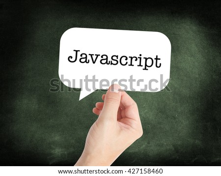 Javascript written on a speechbubble