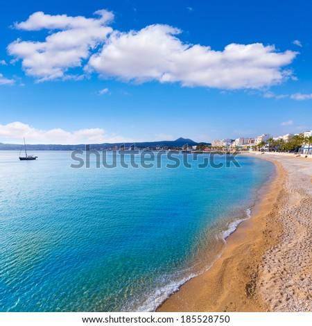 Javea Xabia Playa La Grava beach in Alicante mediterranean Spain - stock photo