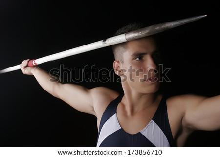 Javelin thrower - stock photo