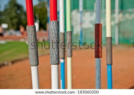 Javelins - stock photo