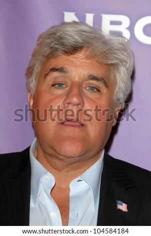 Jay Leno  at the NBC Universal 2009 All Star Party. Langham Huntington Hotel, Pasadena, CA. 08-05-09 - stock photo