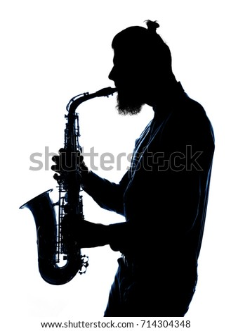 jazz blues saxophonist isolated