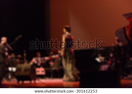 Jazz concert festival theme creative abstract blur background with bokeh effect
