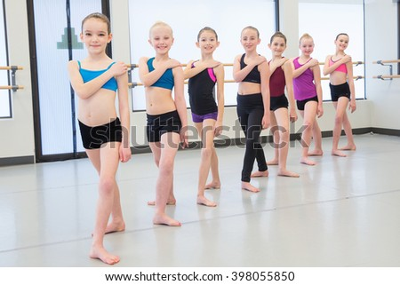 Jazz Dance Class - stock photo