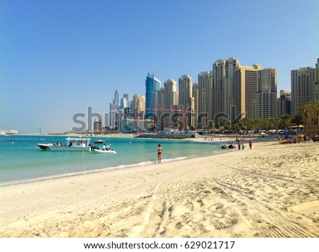 JBR public beach in Dubai, UAE