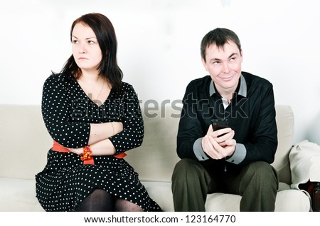 Jealous woman - stock photo